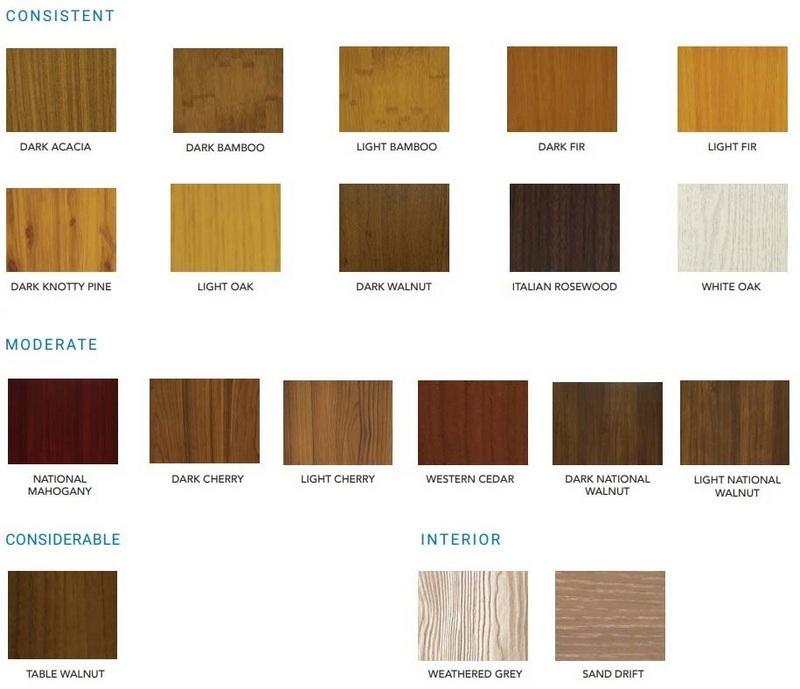 Longboard Siding Colours