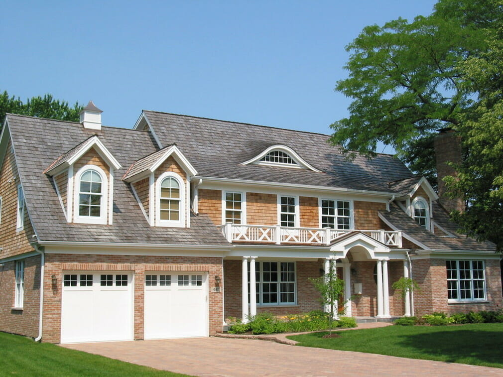 Cedar shingles on the house in Oakville