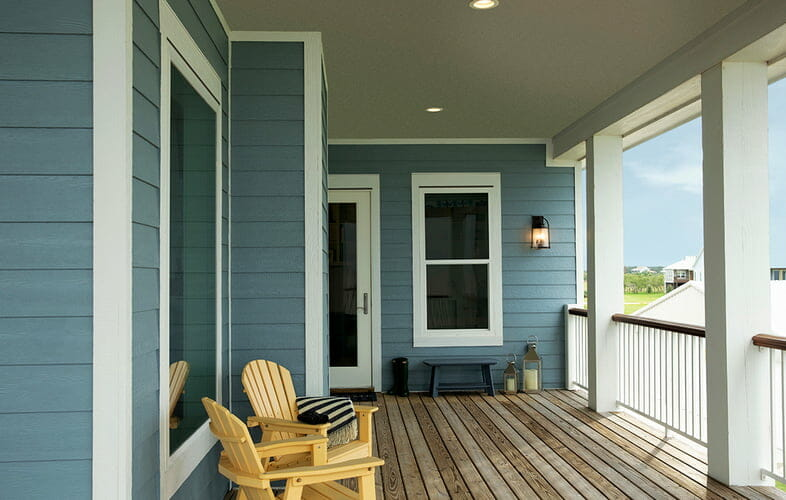 Engineered wood (LP SmartSide) technology offers superior protection against the elements